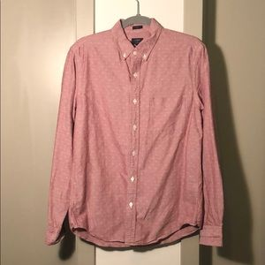 Patterned Nantucket Red Oxford Shirt